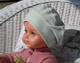bonnet béret chapeau  bébé  fille  lin eva kids  velours vert collection  automne hiver doux agréable extensible créateur lineva 4e40cb24c53