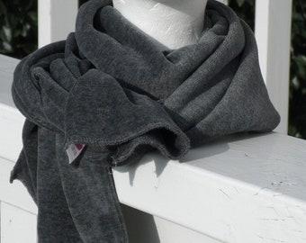 écharpe snood tour du cou enfant fille garçon  velours nouvelle collection  automne hiver 2018 extensible gris 066350aba92