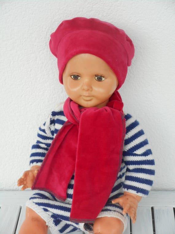 bonnet béret chapeau et écharpe bébé fille ou garçon cadeau   Etsy b41587eb280
