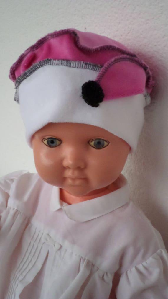 bonnet béret chapeau  bébé   lin eva  jersey  velours    Etsy b8b06d5682d