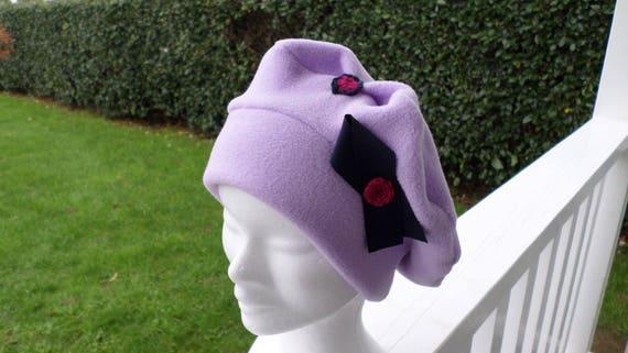 Bonnet chapeau béret  polaire  enfant  confortable unique    Etsy be4c9b36538