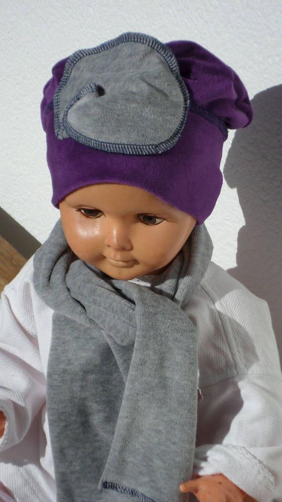 ensemble bonnet béret chapeau et écharpe bébé fille   Etsy c33e9a90266