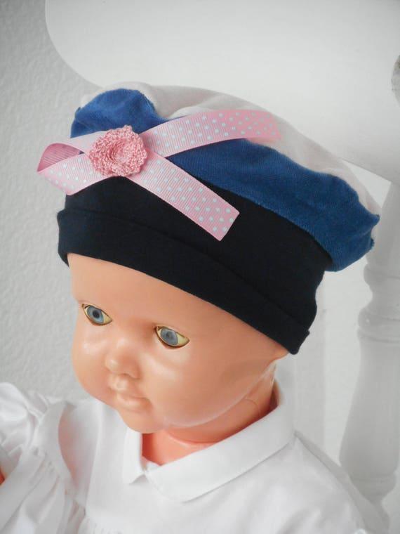 bonnet béret chapeau bébé fille cadeau naissance lin eva   Etsy 8a6543d00c0