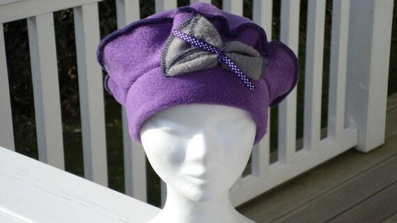 Bonnet chapeau béret  lin eva créateur polaire  gris et   Etsy f2d2aa37fd0