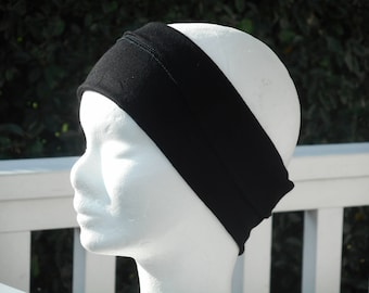 headband stretch jersey black designer lineva woman