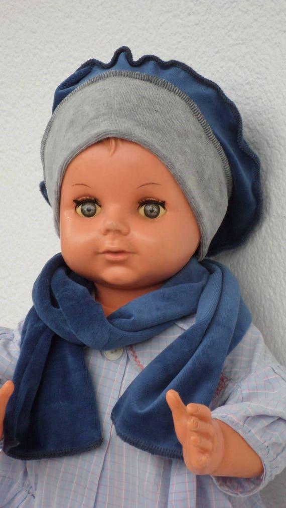 bonnet béret chapeau bébé et écharpe lin eva kids   Etsy 65acb5dcfb9