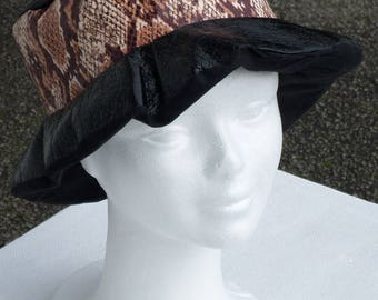 rain beret Beanie / women / brown/black/linen ' eva/creation/collection spring summer/Tiger / / anniversary/ceremony/wedding gift