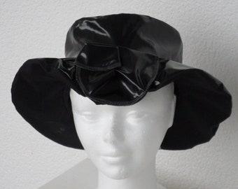 rain rain rain/woman beret Beanie Hat / Black designer /lin'eva / wide edges/new spring collection was 2018/chic