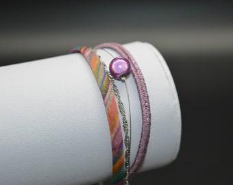 Lilac purple M148 MULTISTRAND bracelet