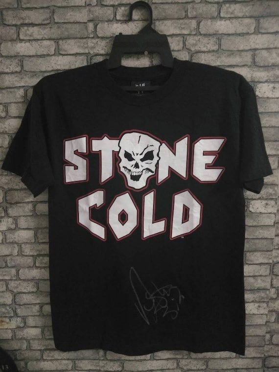 vintage stone cold signature shirt/wwf