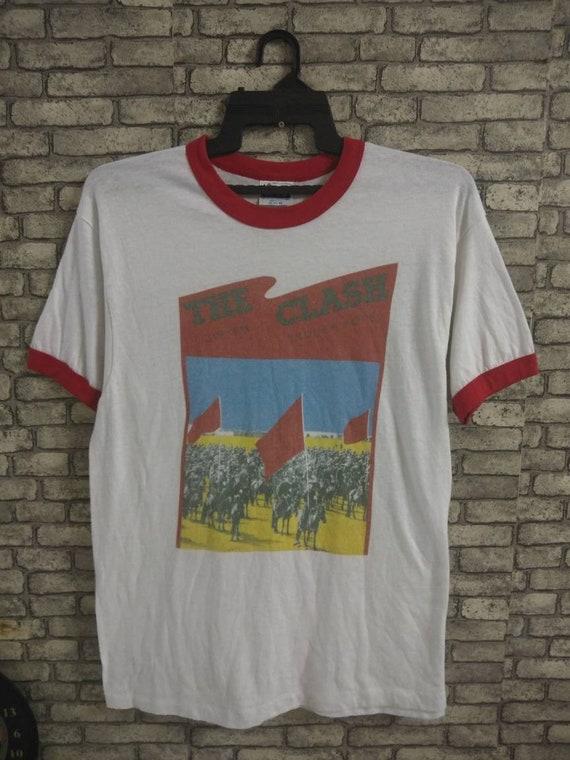 vintage rare 80s the clash ringer shirt/ramones/se