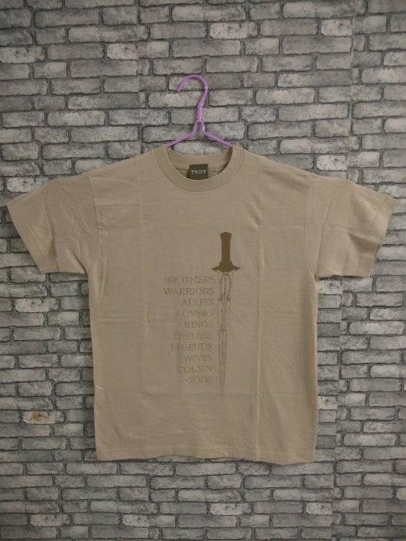 troy movie shirt/movie/drama/brat pitt