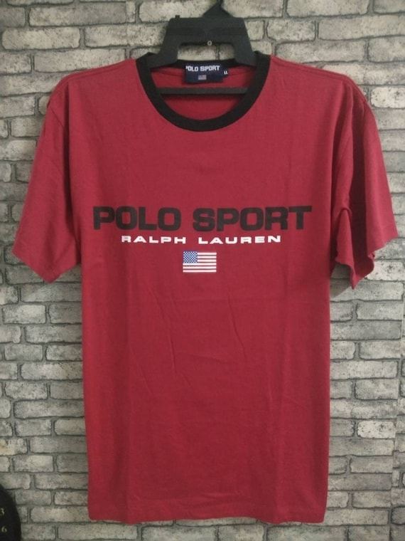 rare polo sport shirt/big logo/ralph lauren/p wing