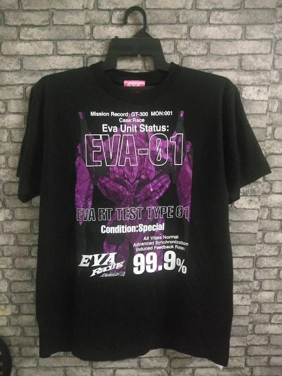 rare evangelion shirt/gundam/akira/anime/ghost in