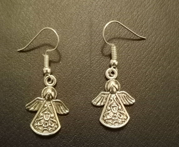 Ohrringe Mit Haken Aus Metall Engel Etsy