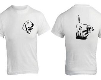 T-Shirt mit Jagd Hund Muster