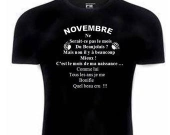 special t-shirt for anyone born in November