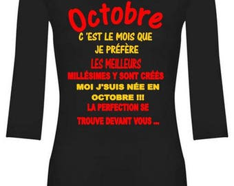 special t-shirt for any woman born in October