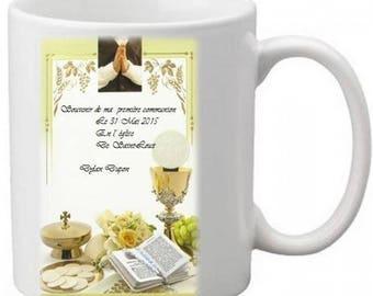 Mug first communion, confirmation solemn Jewish or Catholic