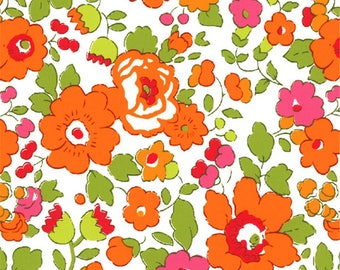 coupon design orange betsy LIBERTY fabric