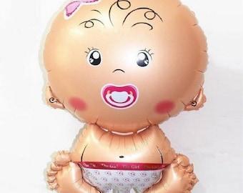 balloon baby christening baby shower girl pink
