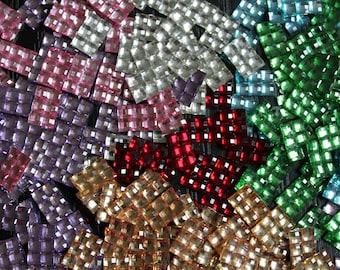 10 glitter square rectangle diamond rhinestones