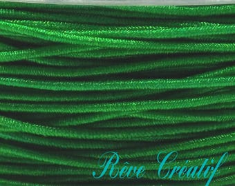 Elastic Stretch, 0.6 mm, bright green color, thickness 4 meter 4 M cord