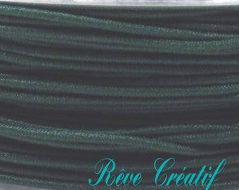 Elastic Stretch, thick 0.6 mm, color dark green, 4 meter 4 M cord