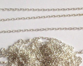 522 cm small chain silver mesh ribbed