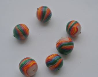 set of five polymer clay beads