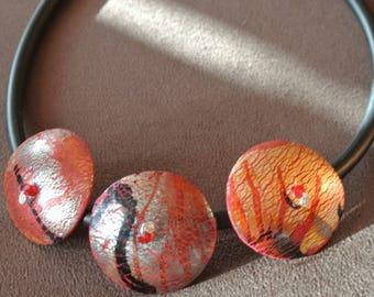 cracked trio necklace