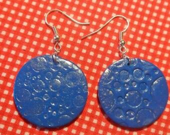 bubble earrings with water
