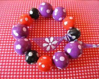 Bracelet has polka dots