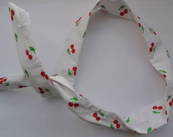 Cherry pinup style hair band