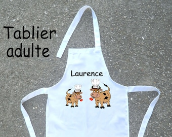 Apron adult-cow-customize with name or nickname
