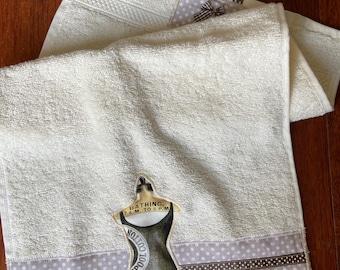 TORCHON ÉPONGE Towel Beige theme vintage swimsuit 30 x 50 cm