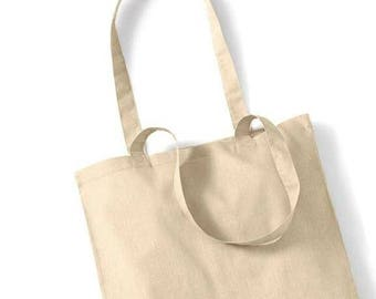 Natural cotton bag to create your tote bag: 37 x 40 cm. Customize it!