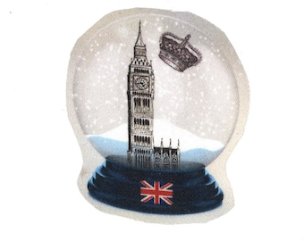Used for sewing or craft: snow globe Big Ben Westminster London England
