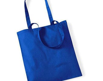 SAC TOTE bag French blue cotton to create yourself DIY: 37 x 40 cm. Customize it!