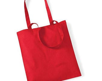 Red cotton bag to create your tote bag: 37 x 40 cm. Customize it!