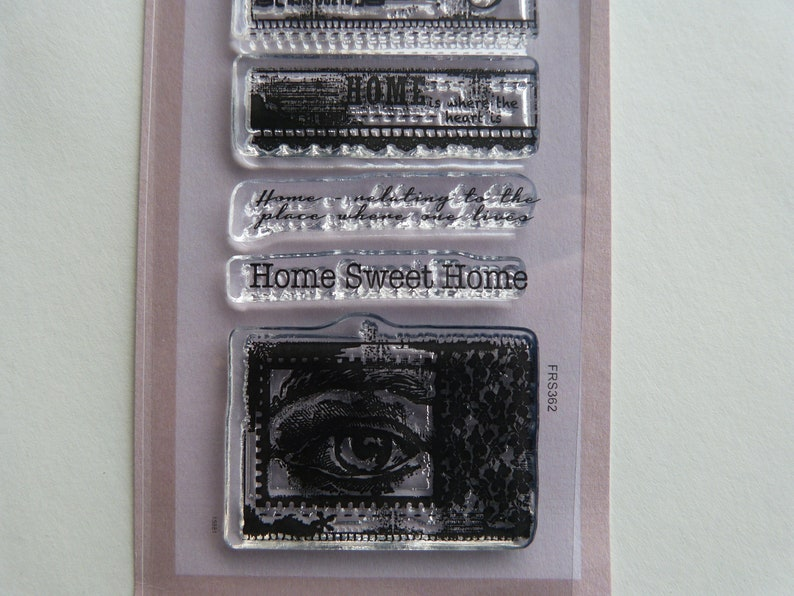 Clear home sweet home stamp