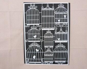 Embellishment scrapbooking cardboard bird cages