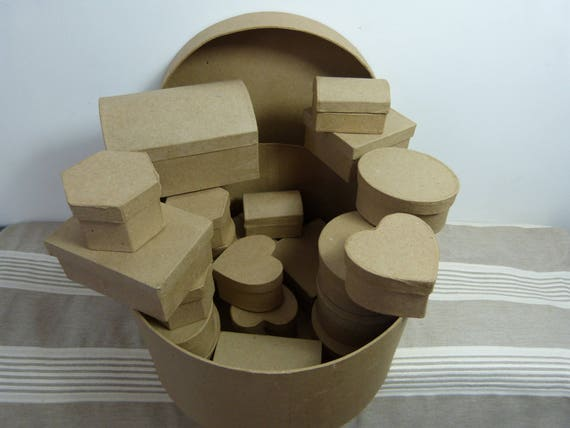 petites boites assorties en carton etsy. Black Bedroom Furniture Sets. Home Design Ideas