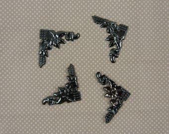 Four corners, metal embellishment scrapbooking