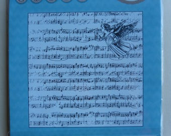 """""""Angel musician"""" clear stamp"""