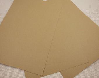 Sheets X2 A4 kraft cardboard