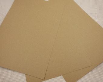 Sheet of A4 kraft cardstock