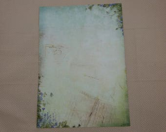 A4 sheet of paper for scrapbooking and cardmaking, spring