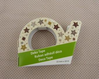 Christmas masking roll: stars