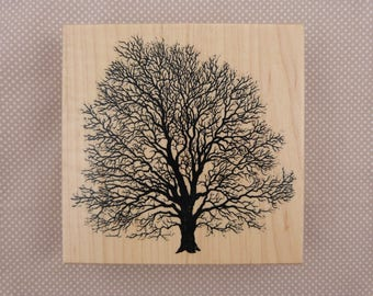 Wooden rubber stamp: tree